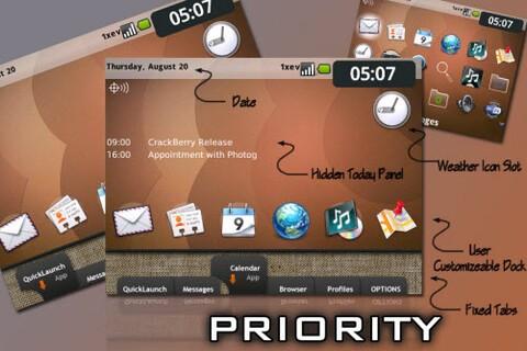 Free Priority Theme For The BlackBerry Tour 9630