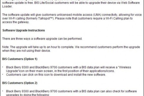 Rogers enabling UMA for BlackBerry Bold 9700 and Curve 3G