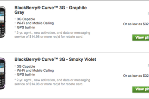 BlackBerry Curve 3G now available from T-Mobile