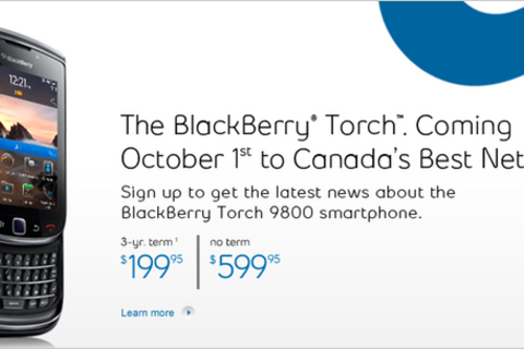 Bell launch of the BlackBerry Torch 9800 delayed until October 1st