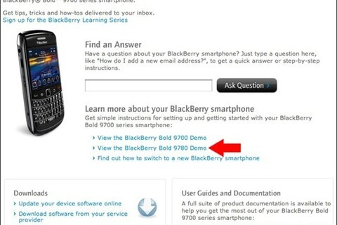 Research In Motion website mistakenly shows off BlackBerry Bold 9780 info