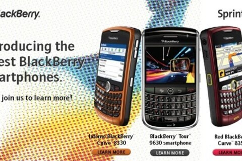 Sprint Launch Training Event To Shows Off BlackBerry Tour and New Curve Colors?!?