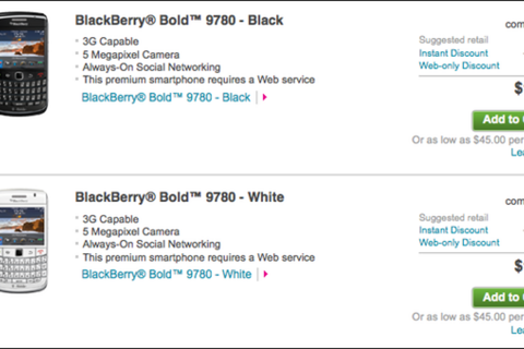 BlackBerry Bold 9780 now available from T-Mobile USA
