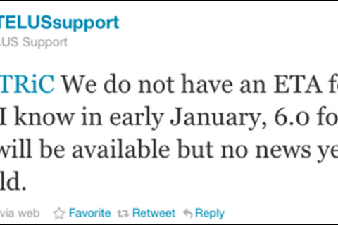Telus confirms BlackBerry 6 coming to the BlackBerry Curve 3G in January