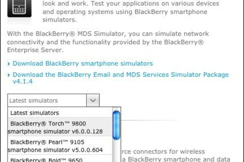 Developers: BlackBerry Torch 9800 Simulator now available for download