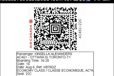 Air Canada Launches Web Signal To Assist With Electronic Boarding Of Flights