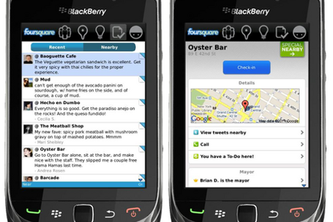 Foursquare v1.9.10 for BlackBerry now available for download