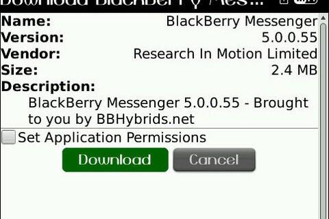 *UPDATED* Leaked: BlackBerry Messenger 5.0.0.55