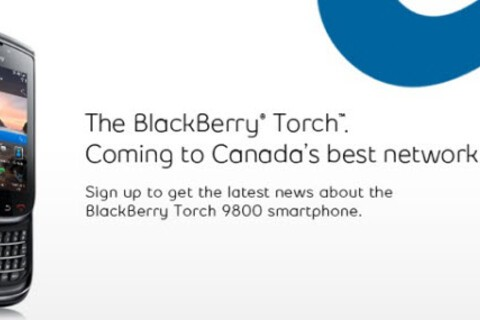 Bell prepares for launch of BlackBerry Torch 9800 by putting up sign up page