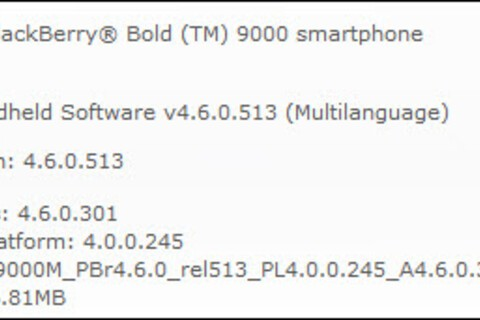 BlackBerry Bold OS 4.6.0.301 Goes Official On AVEA