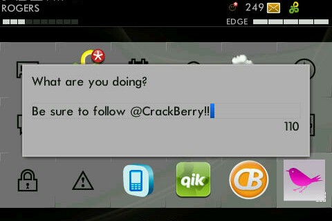 New Little Chirp BlackBerry Twitter Client Now Available