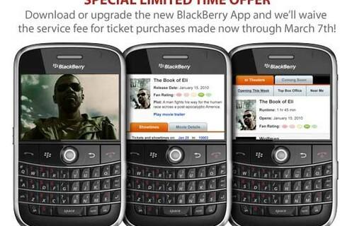 Fandango BlackBerry App Updated And Offering Special Deals