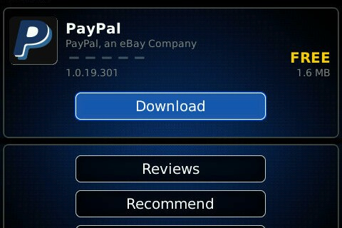 PayPal Releases Free Send Money Application for BlackBerry Smartphones
