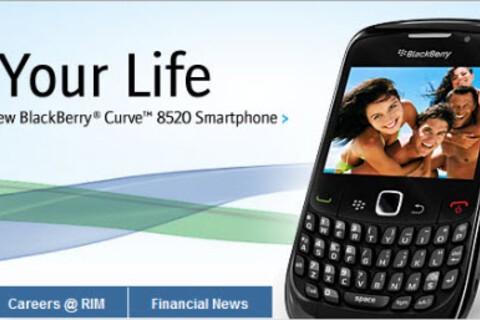 RIM Acknowledges BlackBerry Curve 8520's Existence; Shows Up on BlackBerry.com Website
