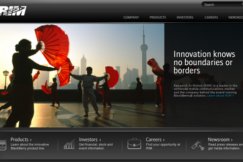 Research In Motion Updates Their Corporate Homepage