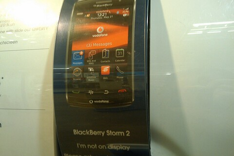 Vodafone Preparing For BlackBerry Storm 2 Launch As Promo Material Appears