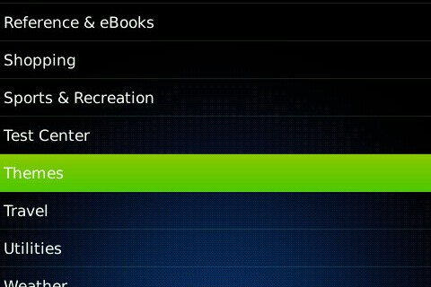 Themes Officially Begin Appearing in BlackBerry App World