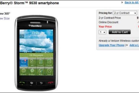 BlackBerry Storm Price Reduced To $49.99 On Verizon!