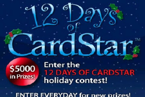Get in on CardStar's 12 Days of Christmas Contest