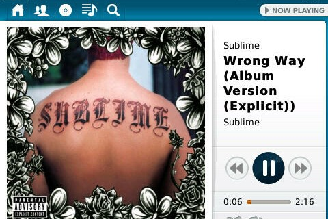 Rdio - A cross platform streaming music service for BlackBerry