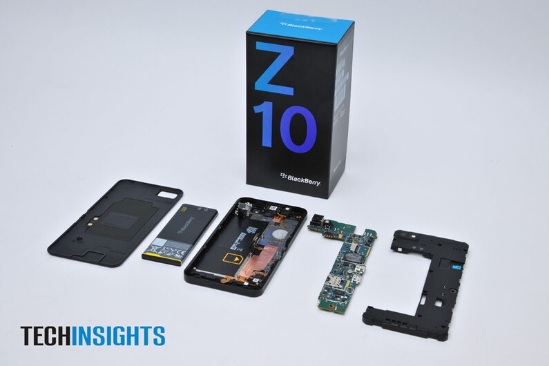 TechInsights BlackBerry Z10 Teardown reveals key components