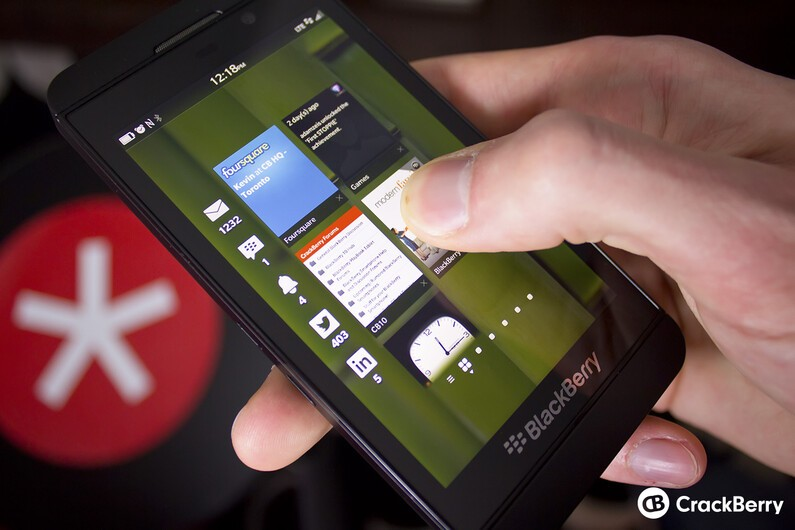 BlackBerry Z10 with Peek