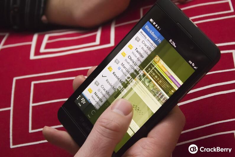 The BlackBerry 10 hub