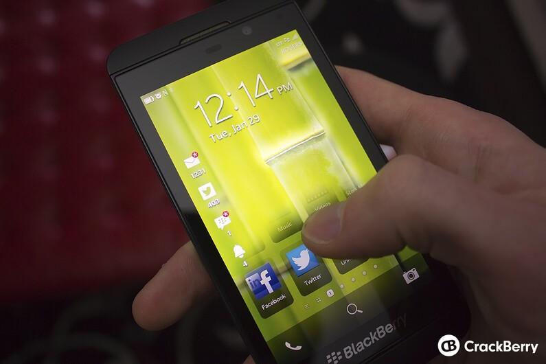 Unlocking in BlackBerry 10