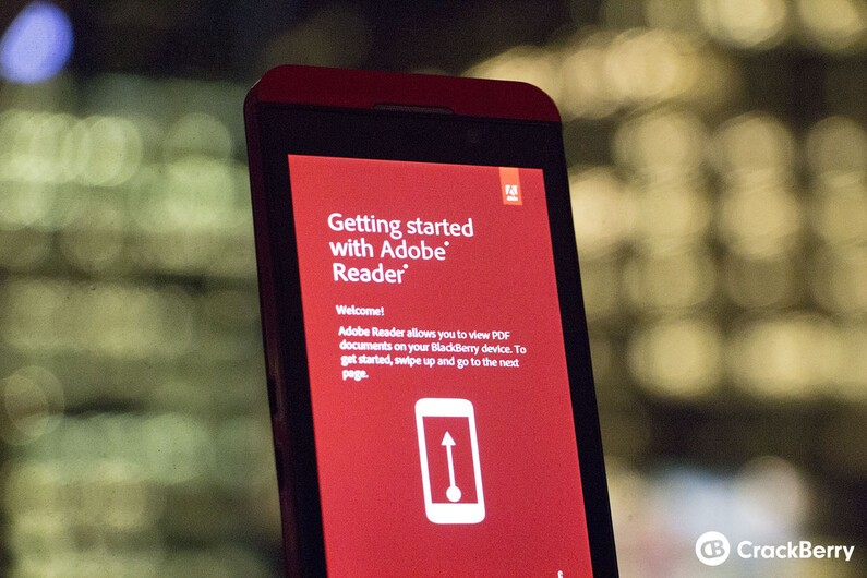 Adobe Reader for BlackBerry 10 updated with accessibility features, stability improvements