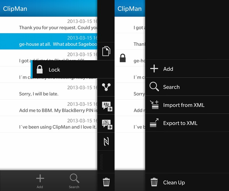 Clipman for BlackBerry 10