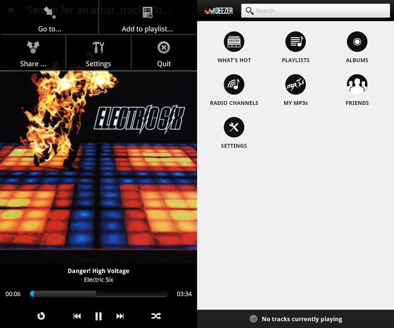 Deezer for BlackBerry 10