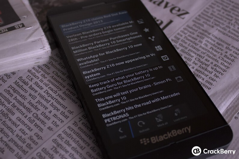 The best news apps for BlackBerry 10