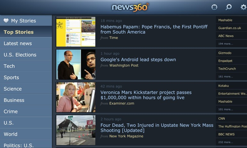 News360 for BlackBerry 10