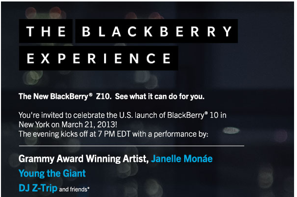 BlackBerry Experience NYC