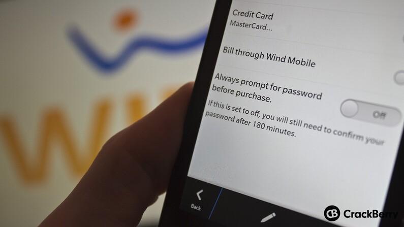 WIND Mobile carrier billing