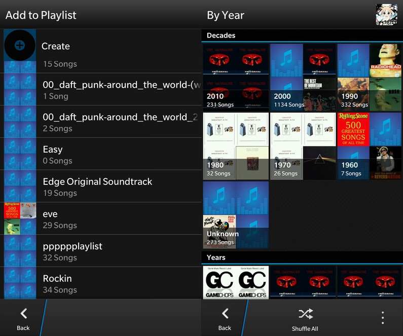 Playlists for BlackBerry 10