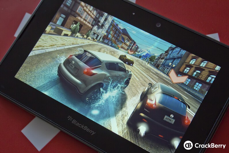Asphalt 7 on the BlackBerry PlayBook
