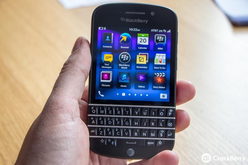 BlackBerry Q10 Front