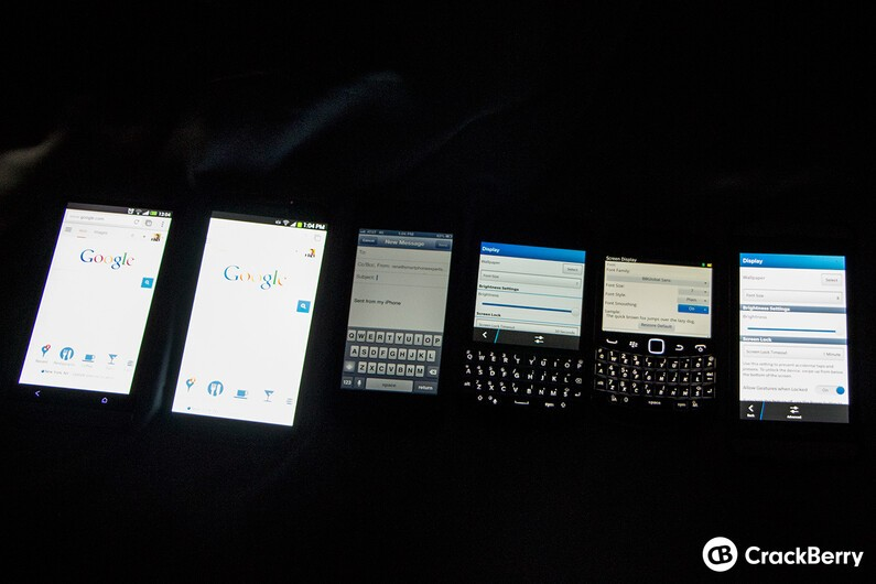 BlackBerry Q10 Display Comparison