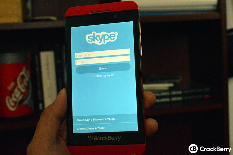 Running OS 10.1 on your Z10? Grab Skype now in BlackBerry World