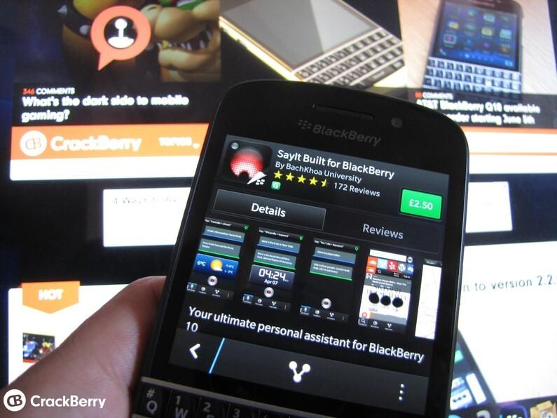 SayIt for BlackBerry 10