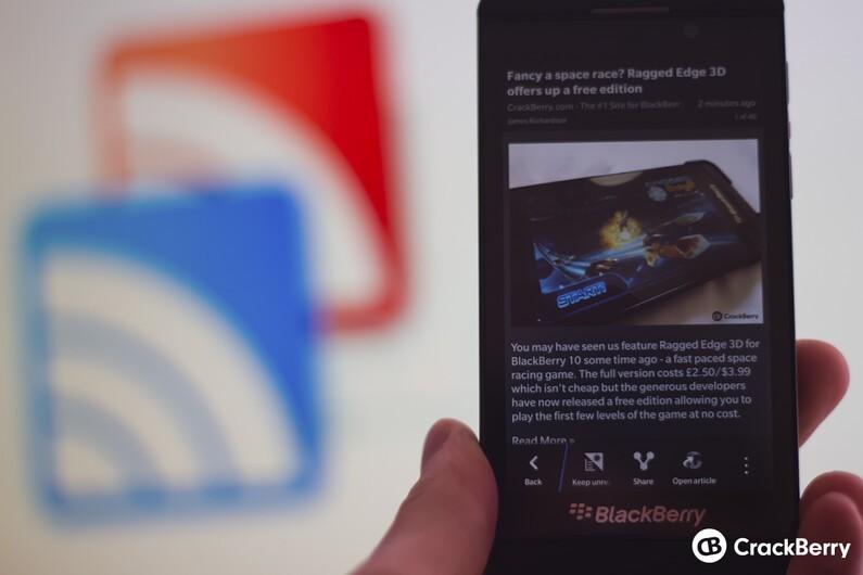 BlackBerry 10 Google Reader