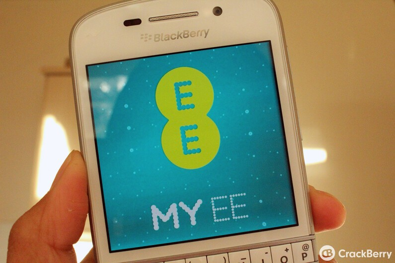 My EE app lands onto BlackBerry 10