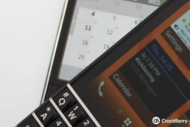 BlackBerry 7 and BlackBerry 10 calendars