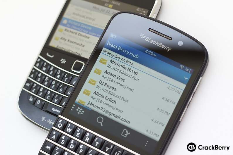 BlackBerry Q10 with mail