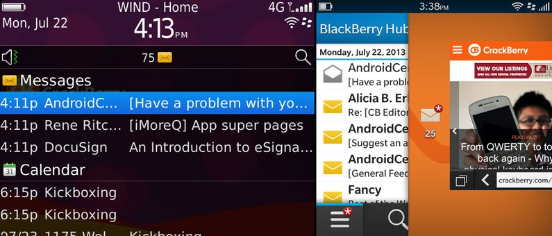 BlackBerry 7 and BlackBerry 10 notifications