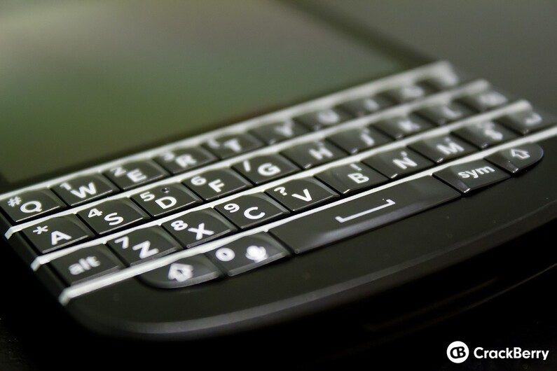BlackBerry Q10 keyboard