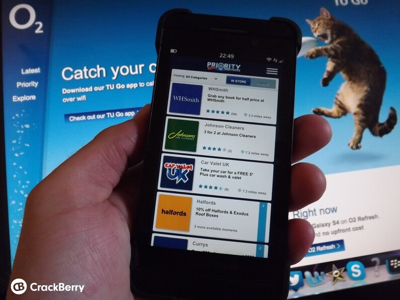O2 Priority Moments for BlackBerry 10