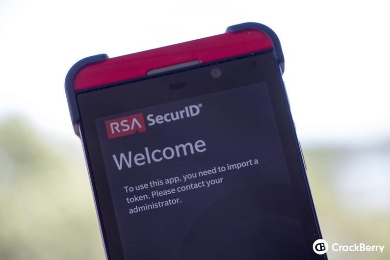 rsa software token  for blackberry