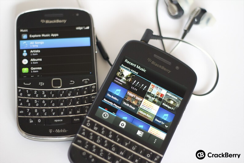 Music on BlackBerry 7 and BlackBerry 10